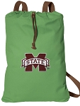 Mississippi State Cotton Drawstring Bag Backpacks Cool Green