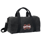 Mississippi Stat Duffel RICH COTTON Washed Finish Black
