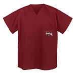Mississippi State University Scrubs Top Shirt-