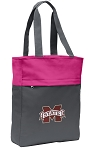 Mississippi State Tote Bag Everyday Carryall Pink