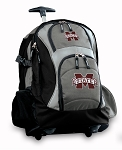Mississippi State Rolling Backpack Black Gray
