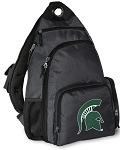 Michigan State Backpack Cross Body Style Gray