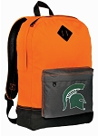 Michigan State Backpack Classic Style Cool Orange
