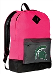 Michigan State Backpack HI VISIBILITY Michigan State University CLASSIC STYLE For Her Girls Women