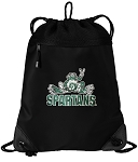 Michigan State Peace Frog Drawstring Backpack-MESH & MICROFIBER