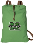 Marshall University Cotton Drawstring Bag Backpacks Cool Green