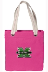 Marshall University Tote Bag RICH COTTON CANVAS Pink