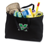 Marshall University Jumbo Tote Bag Black