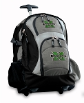 Marshall University Rolling Backpack Black Gray