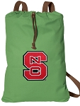 NC State Cotton Drawstring Bag Backpacks Cool Green