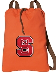 NC State Cotton Drawstring Bag Backpacks Cool Orange