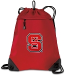 NC State Drawstring Backpack MESH & MICROFIBER Red