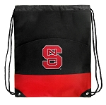 NC State Drawstring Cinch Bags Red