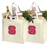 NC State Cotton Shopping Grocery Bags 2 PC SET