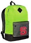 NC State Neon Green Backpack