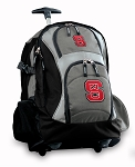 NC State Rolling Backpack Black Gray