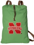 University of Nebraska Cotton Drawstring Bag Backpacks Cool Green