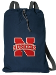 Nebraska Cotton Drawstring Bag Backpacks Cool Navy