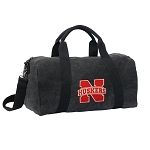 University of Nebraska Duffel RICH COTTON Washed Finish Black