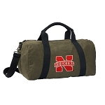 University of Nebraska Duffel RICH COTTON Washed Finish Khaki