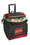 University of Nebraska Rolling Cooler Bag Red