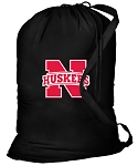 University of Nebraska Laundry Bag Black