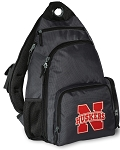 University of Nebraska Backpack Cross Body Style Gray