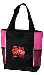 University of Nebraska Neon Pink Tote Bag