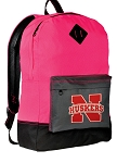 University of Nebraska Backpack Classic Style HOT PINK