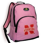 University of Nebraska Backpack Pink