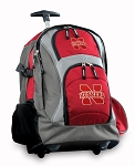 University of Nebraska Rolling Backpack Deluxe Red