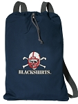 Nebraska Blackshirts Cotton Drawstring Bag Backpacks Cool Navy
