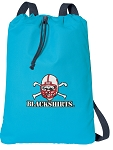Nebraska Blackshirts Cotton Drawstring Bag Backpacks Blue