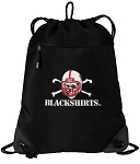 Nebraska Blackshirts Drawstring Backpack-MESH & MICROFIBER