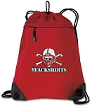 Nebraska Blackshirts Drawstring Backpack MESH & MICROFIBER Red