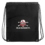 Nebraska Blackshirts Drawstring Cinch Backpack Bag