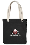 Nebraska Blackshirts Tote Bag RICH COTTON CANVAS Black