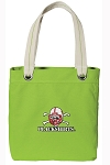 Nebraska Blackshirts Tote Bag RICH COTTON CANVAS Green