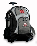 Nebraska Blackshirts Rolling Backpack Black Gray