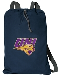 UNI University of Northern Iowa Cotton Drawstring Bag Backpacks Cool Navy
