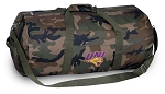UNI Northern Iowa Camo Duffel Bags