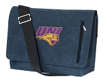 Northern Iowa Messenger Bags STYLISH WASHED COTTON CANVAS Blue