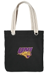 Northern Iowa Tote Bag RICH COTTON CANVAS Black