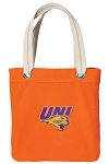Northern Iowa Tote Bag RICH COTTON CANVAS Orange