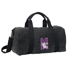 Northwestern University Duffel RICH COTTON Washed Finish Black