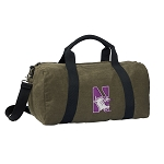 Northwestern University Duffel RICH COTTON Washed Finish Khaki