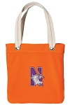 Northwestern University NEON Orange Cotton Tote Bag