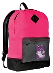 Northwestern University Backpack Classic Style HOT PINK
