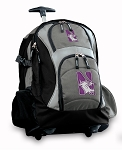 Northwestern University Rolling Backpack Black Gray