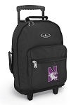 Northwestern University Rolling Backpacks Black
